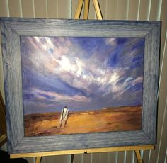 Original Oil on Canvas Walking toward the storm by by USANOW