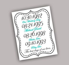 The best days of our lives digital download  Good anniversary gift, wedding gift, mothers day gift, Christmas gift.