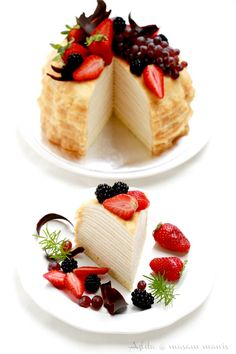 mille crepe cake with vanilla cream custard Cupcakes, Cupcake Cakes, Sweet Recipes, Cake Recipes, Dessert Recipes, Xmas Recipes, Crêpe Recipe, Homemade Recipe, Crepe Cake
