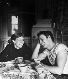 A super sweet photo of Marlon Brando and his sister Jocelyn, 1948, photo by Lisa…