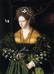 I love the green and gold on here, it seems the Borgias are using this as inspiration for Lucrezia Borgias gowns