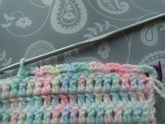Beginning Crochet 3 ch loops for top edging - how to finish this baby blanket pattern Crochet Baby Blanket Free Pattern, Crochet Blanket Edging, Crochet Baby Blanket Beginner, Easy Baby Blanket, Baby Blankets, Crochet Borders, Crochet Stitches, Crochet 101, Crochet Stars