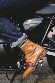 Keep your freshly polished shoes protected from your motorcycle gear lever. 100% Kangaroo Leather Hand Made in Australia // 1.75hr manufactur...