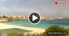Live view of the turquoise sea of Lampedusa