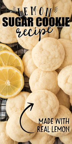 The bright flavors of these lemon sugar cookies with a touch of sweetness thanks to the added sugar on the outside make for the perfect summertime cookie or treat for family and friends. Lemon Sugar Cookies, Sugar Cookie Dough, Sugar Cookies Recipe, Yummy Cookies, Baby Cookies, Heart Cookies, Valentine Cookies, Easter Cookies, Birthday Cookies