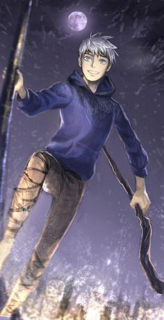 """RotG - Jack Frost. """"Hey wind! Take me home!"""""""