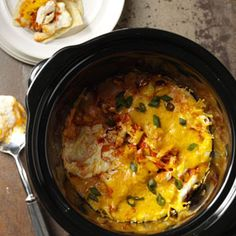 Buffalo Wing Dip Recipe from Taste of Home #Slow_Cooker  #crockpot