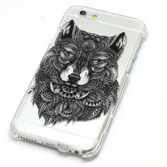 Wolf Fox Feathers Black Mandala Henna Phone Case iPhone 6, 6 Plus, 6S, 5, 5C, 5S, Galaxy S5, S6, Note 4 by ClashCases on Etsy https://www.etsy.com/listing/226962080/wolf-fox-feathers-black-mandala-henna