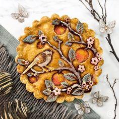 Pie Crust Designs, Pies Art, Pie Tops, No Bake Pies, Edible Art, Cute Food, Just Desserts, Amazing Cakes, Food Art