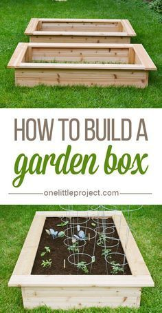 How to build a garden box - This step by step photo tutorial shows exactly how to make one!