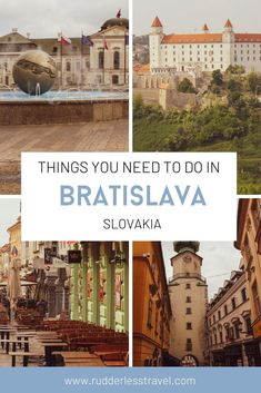 Here are the best things to do in Bratislava, Slovakia in just one day. Learn about the best photography spots, the Old Town, and the best food. Top Travel Destinations, Europe Travel Guide, Travel Guides, Places To Travel, European Road Trip, European Travel Tips, Travel Pictures, Travel Photos, Berlin