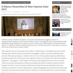 All'assemblea di #reteimpreseitalia 2015! Affidati ai Professionisti!  #TeleprompterItalia #RegioneLombardia