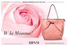RIPANI pays homage to all mothers and dedicates them a sweet and refined thought just like the bag ROMANTICA, delicate and feminine in its pink variant. Happy Mother's Day! #feedyourstyle #love #fashionable #romantic #mom
