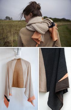 knitting inspiration: landscape wrap by primoeza - from the unruly-things blog (search wrap to find post) http://www.unruly-things.com/2011/10/landscape-cardigan.html