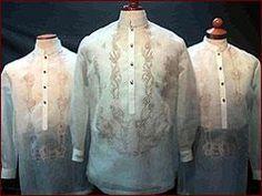 Barong Tagalog, formal wear for men Filipiniana Wedding Theme, Elegant Wedding Gowns, Red Wedding, Wedding Attire, Traditional Fashion, Traditional Outfits, Filipino Debut, Debut Gowns, Barong Tagalog