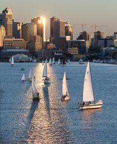 Sailboats - Seattle, WA photo by David Larkman Clark.  Love this picture!!