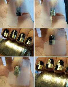 Checkered Nails | 12 Amazing DIY Nail Art Designs Using Scotch Tape