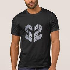 Designed stylish iron sharp face men's   black tshirt