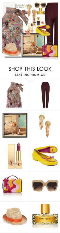 """Untitled #494"" by pesanjsp ❤ liked on Polyvore featuring Fendi, The 2nd Skin Co., Serefina, Yves Saint Laurent, Kate Spade, Mark Cross, Gucci, Lola and Vilhelm Parfumerie"