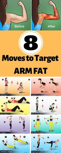 8 moves to target arm fat - Super Healthy Tips Abs, Body. - 8 moves to target arm fat – Super Healthy Tips Abs, Body, Exercise, Fat L - Fitness Workouts, Fitness Motivation, At Home Workouts, Yoga Fitness, Fat Workout, Skinny Arms Workout, Enjoy Fitness, Fitness Life, Mental Health Articles