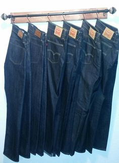 DIY closet jeans hanger ... keeping your denim fresh and wrinkle-free for less than  $20. Awesome!