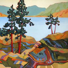 contemporary landscape painting by Carolee Clark #tree #art