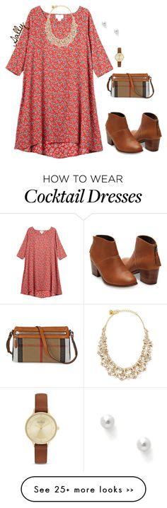 """Simply Cute"" by sc-prep-girl on Polyvore featuring Monki, Kate Spade, Burberry, Skagen and TARA Pearls"