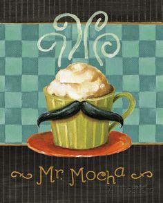 Cafe Moustache V Art Print