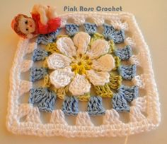 PINK ROSE CROCHET /: Granny Square