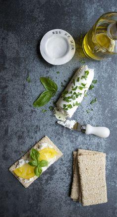 Greek Yogurt Cheese - so similar to goat cheese, but saves you a billion calories and fat grams.   /tasteLUVnourish/