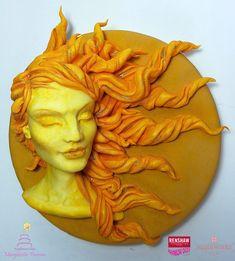 Sunshine #classes2018 #sun #sugar #realistic #modelling #face #sculpture #woman