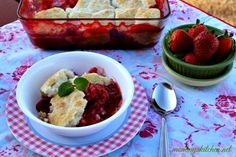 Mommy's Kitchen - Country Cooking & Family Friendly Recipes: Stawberry Biscuit Cobbler #SavetheBiscuit