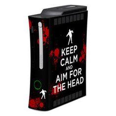 Xbox 360 Skin - Keep Calm - Zombie