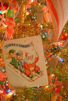 Vintage Christmas Card - this just makes me happy!