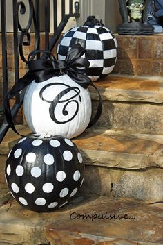 Compulsive...: Painted Pumpkins
