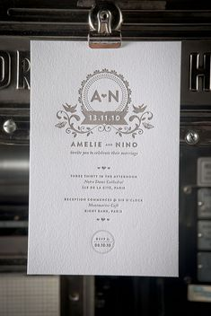 Nice letterpress wedding invitation design #letterpress #weddinginvitation #weddingstationary