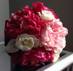 Pink Peonies, Roses and Calla Lily Bridal Bouquet | Destination Or Not - Designer Bridal Bouquets