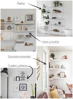 Decorar estantes, estanterías y baldas | La Garbatella: blog de decoración de estilo nórdico, DIY, diseño y cosas bonitas.