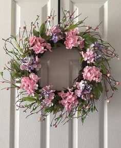 Berry wreath for front door, Summer wreath, Spring berry wreath, Berry wreath, Front door wreath, Everyday wreath. by H2HCreation on Etsy