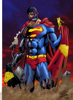 Colab: Super Cyborg, Lines by Jean Sinclair Arts, Color by Heder Silva de Lima Marvel Dc, Marvel Comics, Man Of Steel, Dc Heroes, Superman, Batman, Comic Books Art, The Incredibles, Superhero