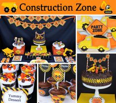 Hayden's Construction Zone Birthday  | CatchMyParty.com