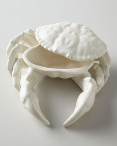 "Oscar de la Renta ""Shell Crab"" Condiment Server"