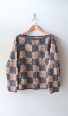 Knitulator sucht einfache #Strickmodelle: #Pullover #4x4Pullover #Strickpullover #PulloverQuadrat