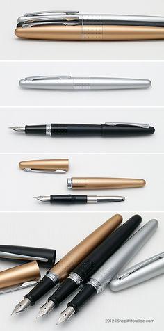 Pilot Metropolitan Fountain Pen - Gold, Dots