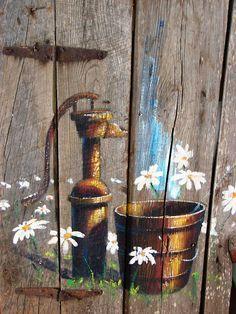 Water Pump and Daisies