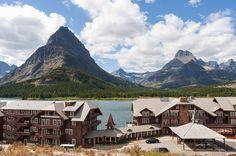 Many Glacier Hotel on Swiftcurrent Lake in Glacier National Park