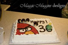 Angry Birds Birthday Party & Cake