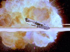 death star explosion blowing up millenium falcon lucas film