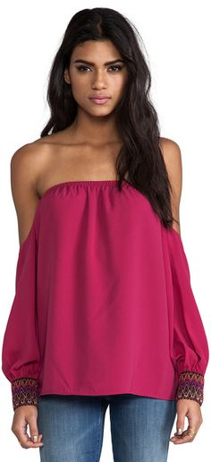 63c631291681b Shop for VAVA by Joy Han Betsy Off the Shoulder Top in Berry at REVOLVE.