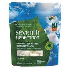 Seventh Generation Natural 45-Count Unscented Dishwasher Detergent 228